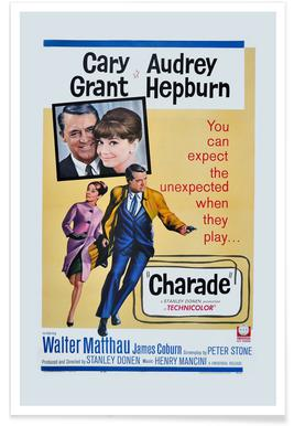 'Charade' Retro Movie Poster