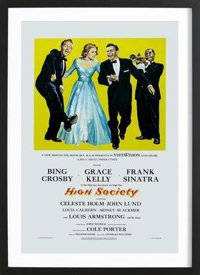 'High Society' Retro Movie Poster
