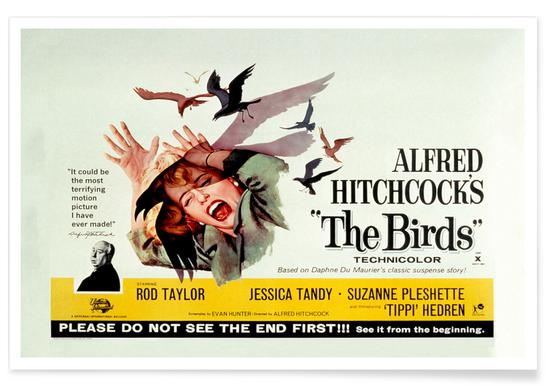 Alfred Hitchcock 'The Birds' Retro Movie Poster Poster