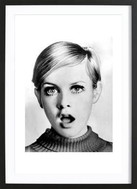 Twiggy, 1966 Framed Print