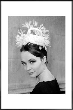 Tania eyde in cocktail hat, 1962 Framed Poster