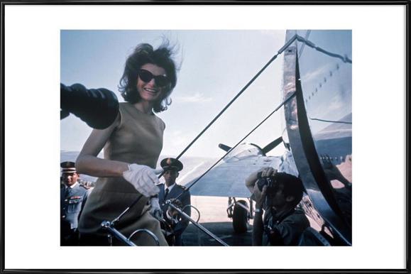 Jackie Kennedy, 1962 Asia visit Framed Poster