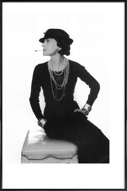 Coco Chanel, 1972 Framed Poster