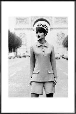 Outfit created by Pierre Balmain for airline hostesses of the future. affiche encadrée
