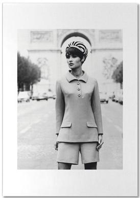 Outfit created by Pierre Balmain for airline hostesses of the future. notitieblok