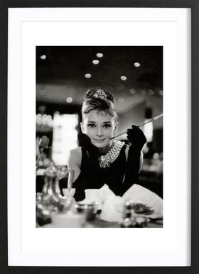 Audrey Hepburn in Breakfast at Tiffany's, 1961 ingelijste print