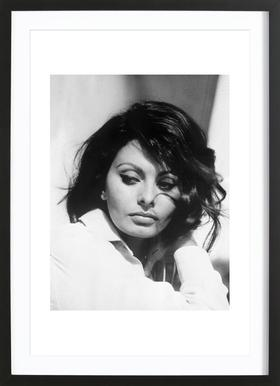 Sofia Loren, 1969 - Poster in Wooden Frame