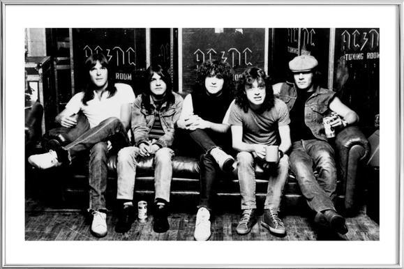 AC/DC -Poster im Alurahmen