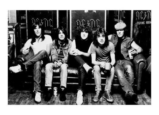 AC/DC canvas doek