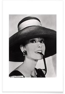 Audrey Hepburn-Vintage-Fotografie -Poster