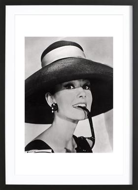 Audrey Hepburn - Affiche sous cadre en bois