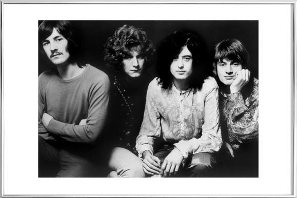 Led Zeppelin -Poster im Alurahmen