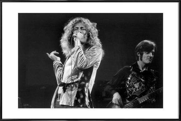 Led Zeppelin, Robert Plant -Bild mit Kunststoffrahmen
