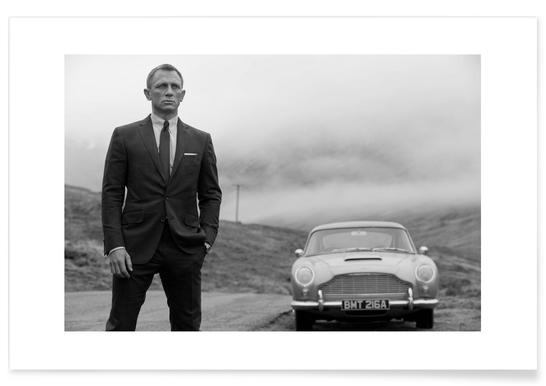Daniel Craig as James Bond - Premium poster