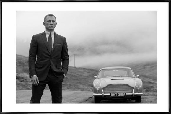 Daniel Craig as James Bond -Bild mit Kunststoffrahmen