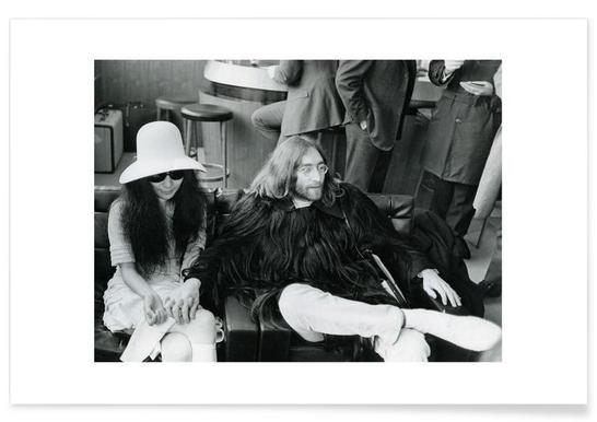 John Lennon und Yoko Ono-Fotografie -Poster