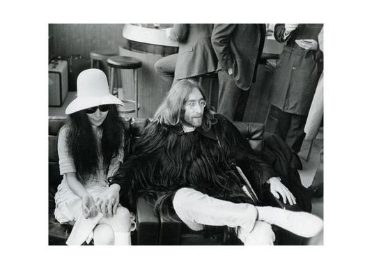 John Lennon and Yoko Ono -Leinwandbild