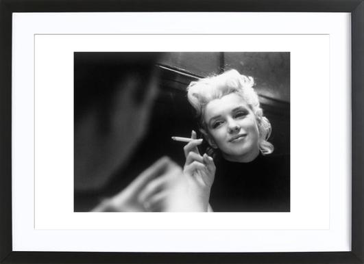 Marilyn Monroe in New York, 1955 -Bild mit Holzrahmen