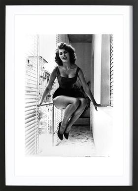 Sophia Loren - Affiche sous cadre en bois