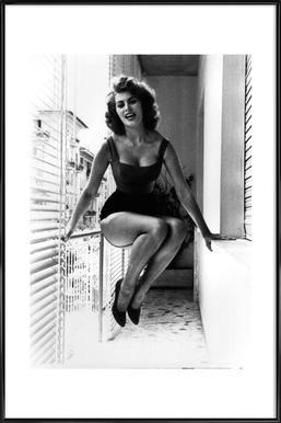 Sophia Loren - Poster in kunststof lijst