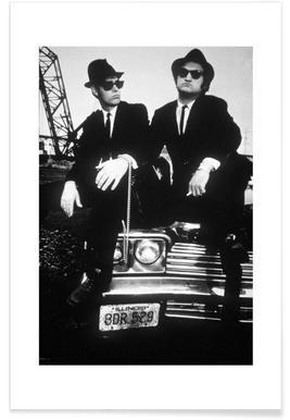 Dan Akroyd and John Belushi in Blues Brothes, 1980 - Premium Poster