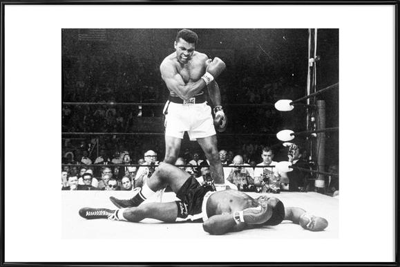Muhammad Ali rematch with Sonny Liston, 1965 - Poster in Standard Frame