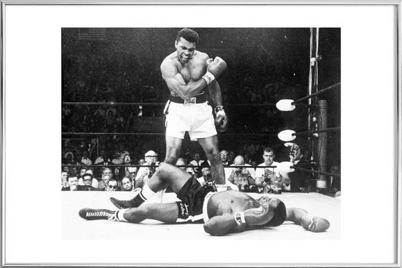 Muhammad Ali rematch with Sonny Liston, 1965 -Poster im Alurahmen