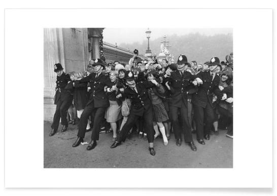Beatles receiving their MBE's, 1965 - Premium poster