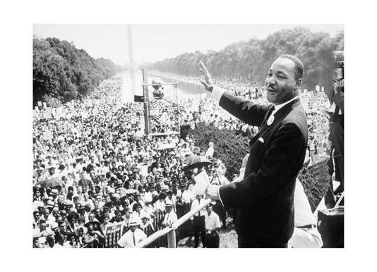 Martin Luther King, 1968 -Leinwandbild