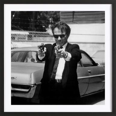 Harvey Keitel in Reservoir Dogs - Poster in Wooden Frame