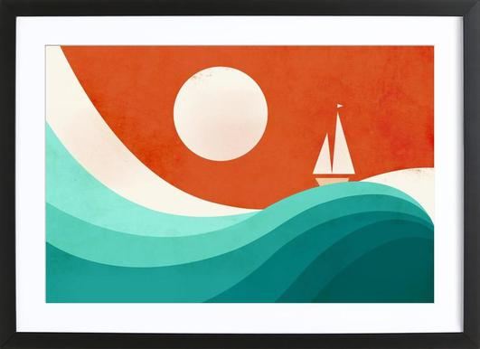 Wave Night Framed Print