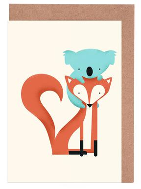 Fox and Koala Greeting Card Set
