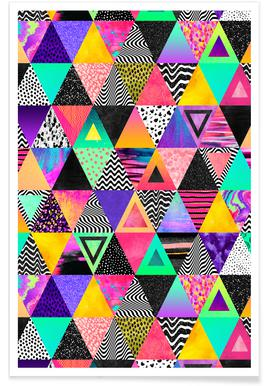 Quirky Triangles -Poster
