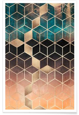 Ombre Dream Cubes -Poster