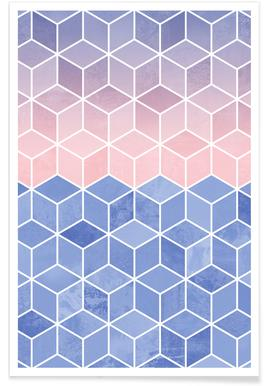 Rose Quartz and Serenity Cubes -Poster