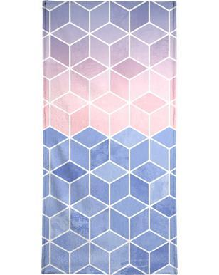 Rose Quartz and Serenity Cubes Bath Towel