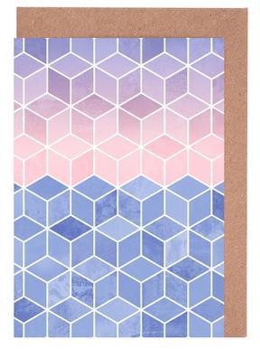 Rose Quartz and Serenity Cubes Greeting Card Set