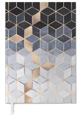 Soft Blue Gradient Cubes agenda