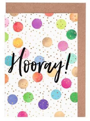Hooray -Grußkarten-Set
