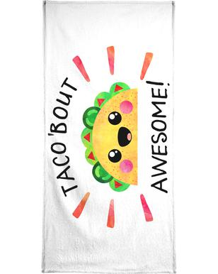 Taco Bout Awesome Beach Towel