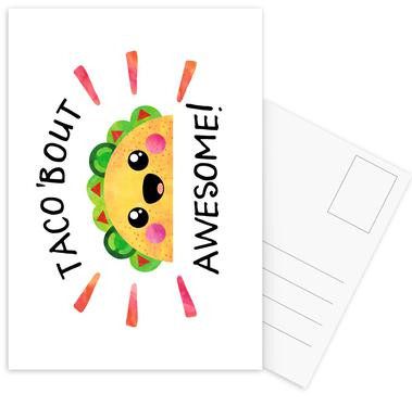 Taco Bout Awesome -Postkartenset