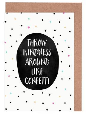 Throw Kindness -Grußkarten-Set