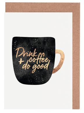 Drink Coffee and Do Good 1 wenskaartenset