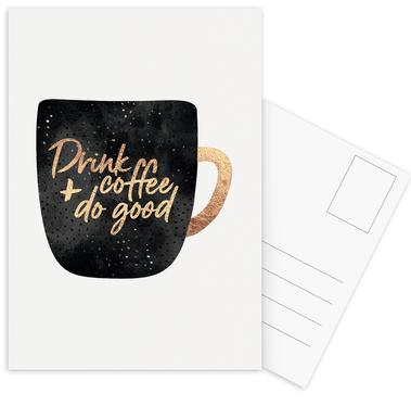 Drink Coffee and Do Good 1 Postcard Set