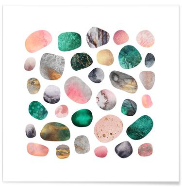 Pretty Pebbles Poster