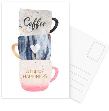 A Cup of Happiness Postcard Set