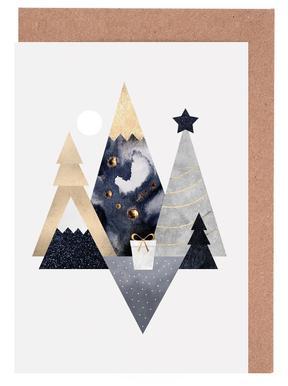 Christmas Mountains -Grußkarten-Set