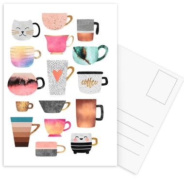Coffee Cup Collection Postcard Set