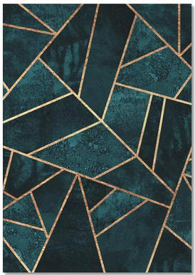 Deep Teal Stone Notebook