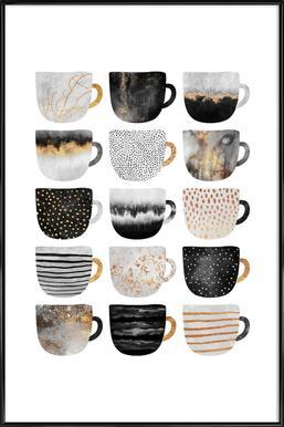 Pretty Coffee Cups 3 affiche encadrée